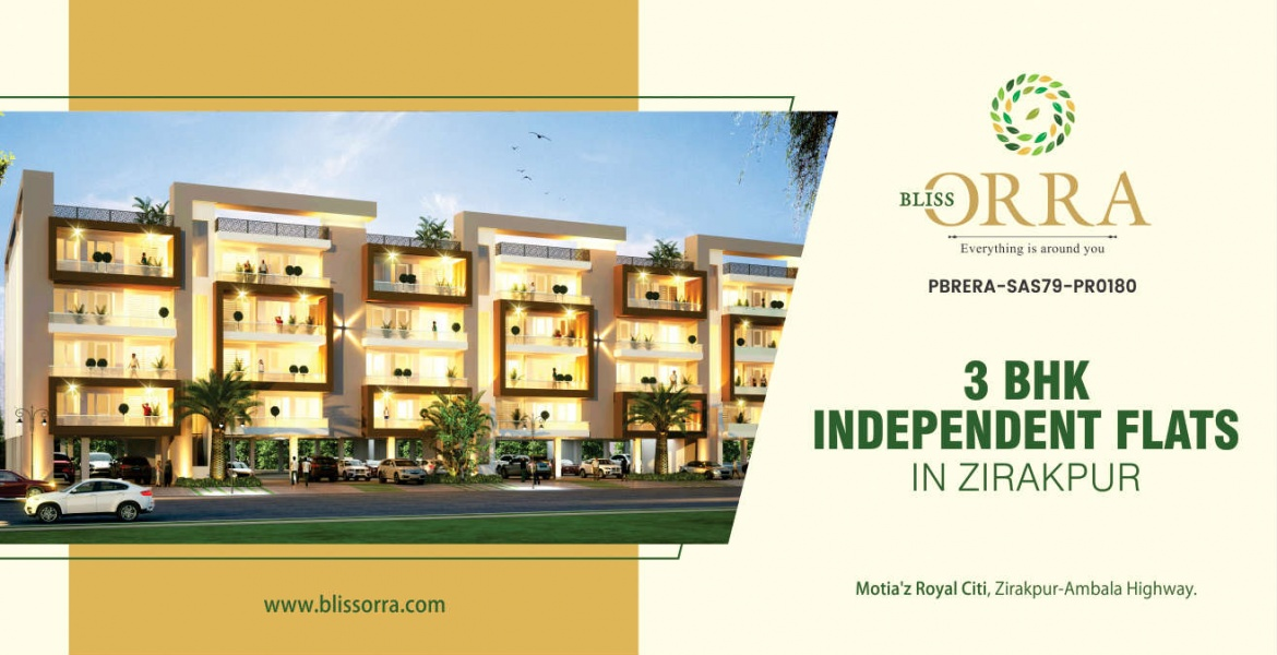 Buy Independent 3 BHK Flats in Zirakpur