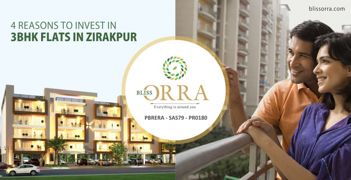 4 reasons to invest in 3 BHK flats in Zirakpur