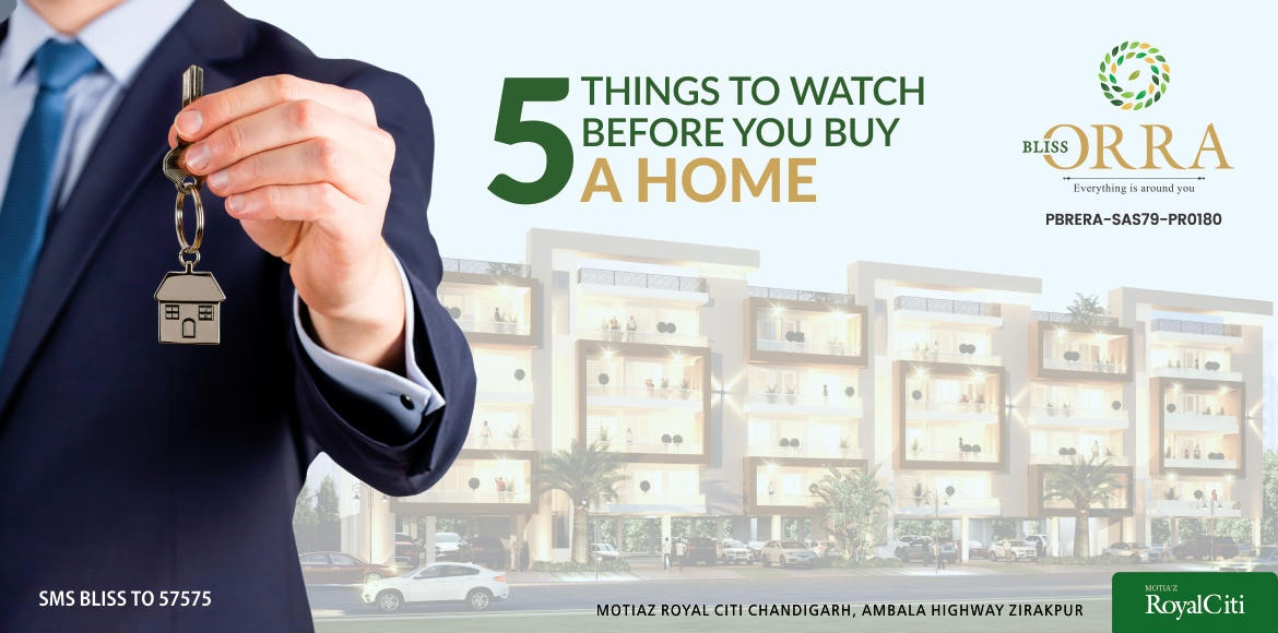 5 things to watch before you buy a home